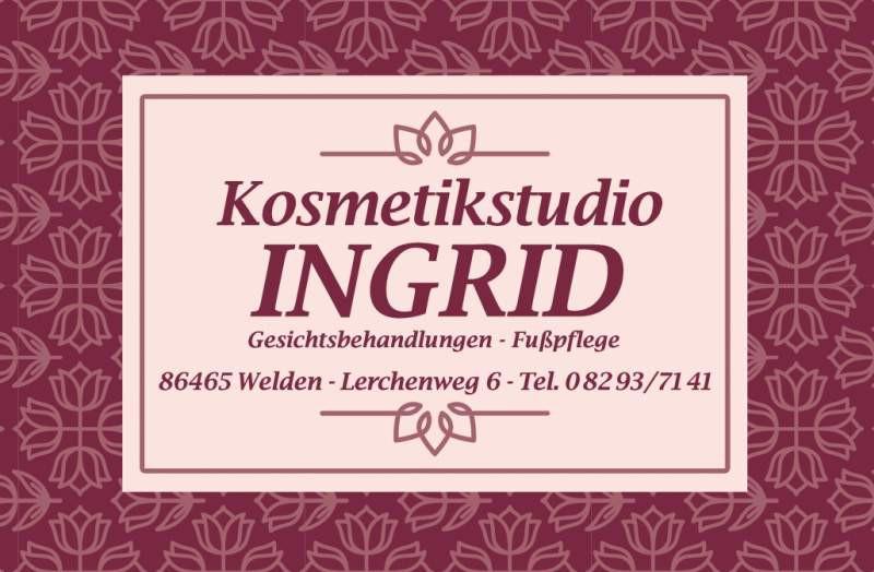 _47 K Kosmetik Ingrid_Anzeige Kosmetikstudio Ingrid Kunzmann.