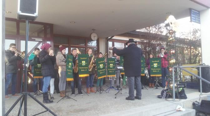 Auftritt der Jugendkapelle am Weihnachtsmarkt