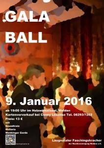 Galaball 2016 Plakat