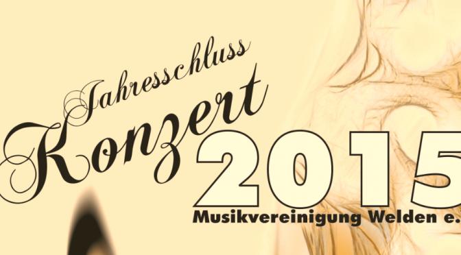 Jahresschlusskonzert 2016 am 26. Dezember
