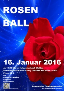 Rosenball 2016 Plakat