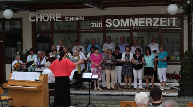 Chöre singen zur Sommerzeit – 35 Jahre Gemischter Chor in Welden