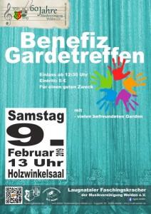 Benefizgardetreffen Plakat 2019 02 09