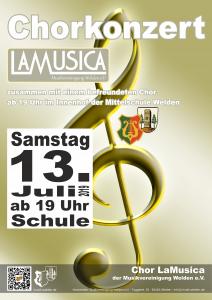 Chorkonzert Poster 2019