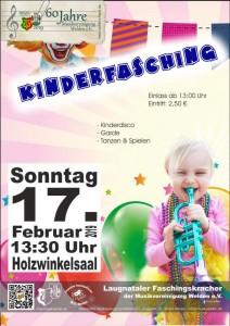Kinderfasching Plakat 2019 02 17 ohne Gardenamen