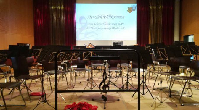 Jahresabschlusskonzert der Musikvereinigung Welden